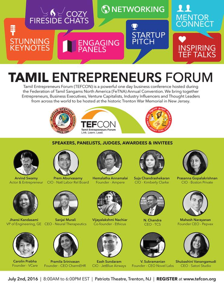 Tamil Entrepreneurs Forum Conference (TEFCON 2016)